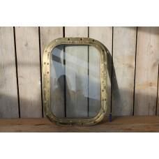 Large Vintage Brass Porthole Window